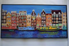 op het water in Amsterdam
